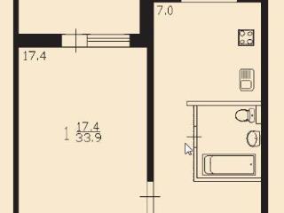 Продажа квартир: 1-комнатная квартира, Новосибирск, ул. Бориса Богаткова, 194/6, фото 1