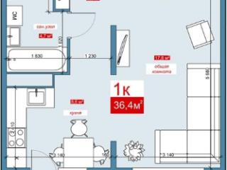 Продажа квартир: 1-комнатная квартира в новостройке, Барнаул, пр-кт Энергетиков, 2, фото 1