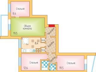 Продажа квартир: 4-комнатная квартира, Краснодар, ул. им Тюляева, 18, фото 1
