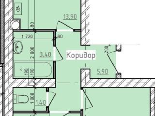 Продажа квартир: 2-комнатная квартира в новостройке, Волгоград, Родниковая ул., 48, фото 1