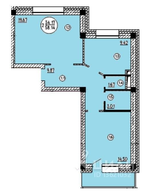 Продажа квартир: 2-комнатная квартира, Улан-Удэ, Краснофлотская ул., 26, фото 1
