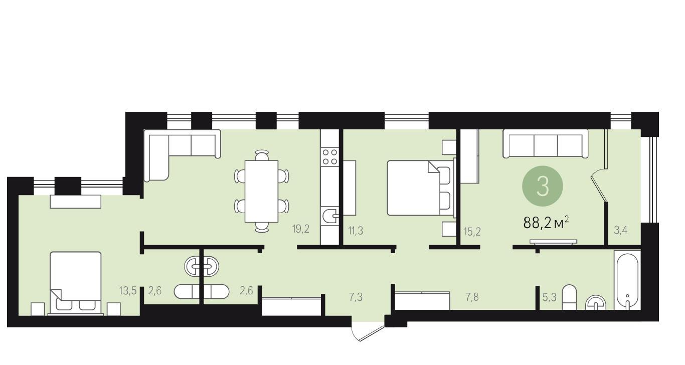 Квартира в новостройке Екатеринбург, ул. Новаторов - 1